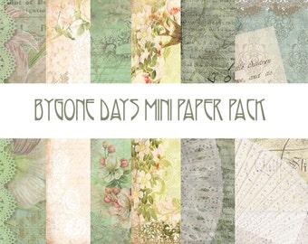 Bygone Days Mini Paper Pack