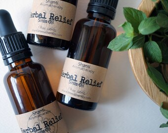 Herbal Relief Oil - Nasal Emollient, All Natural Herbal Sinus Oil