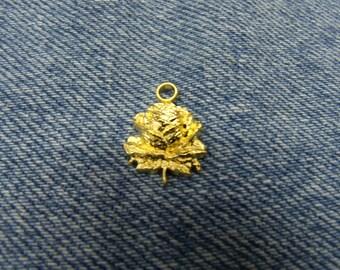 SMALL Golden Flower pendant