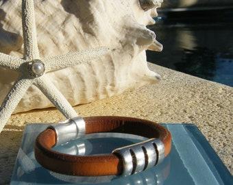 Men's Regaliz Leather Bracelet