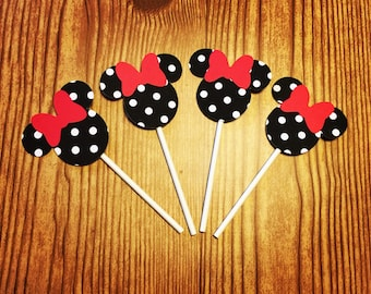 Disney Minnie Mouse Cupcake Toppers