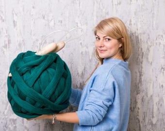 DIY KIT, Knitting DIY Kit, Chunky yarn, chunky knits, knitting yarn, make your own blanket, super chunky knit blanket, Merino wool yarn