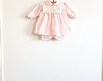 Vintage Pink Dress and Romper Outfit