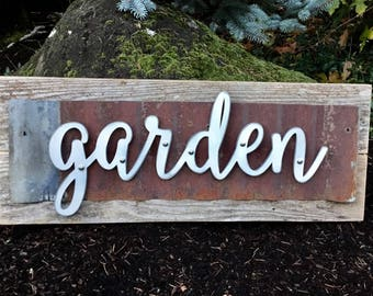 Wonderful Wood Signs, Garden Sign, Wooden Signs, Garden Signs, Rustic Home Decor,  Rustic Wall Decor, Rustic Decor, Rustic, Rustic Wood Signs