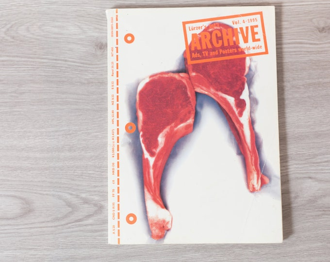 1995 Archive Magazine Volume 4 - Lürzer's International Ad's, TV Posters, and World-Wide - Creative Agency Advertisements Photography Zine