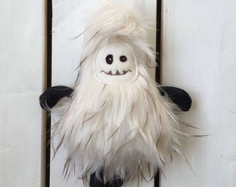 Ready to ship, yeti, abominable snowman, sasquatch, monster, handmade, shower gift
