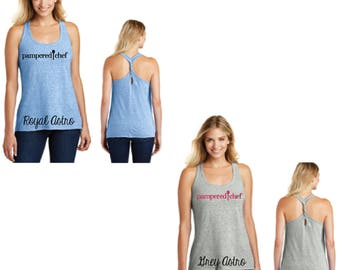 Glitter Pampered Chef Cosmic Twist Back Tank, Twist Back Tank, Pampered Chef Tank Top, Pampered Chef Clothing, Pampered Chef