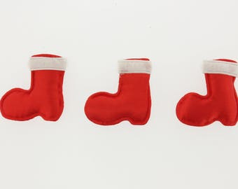 Clearance Sale 50 Pieces Padded Christmas Stocking in Red