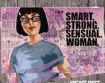Bob's Burgers Tina Belcher Smart Strong Sensual Woman powerful Poster