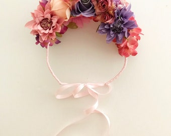 Flower Headband | Flower Crown | Races Headwear | Floral Headband | Boho Headband