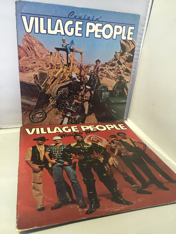 The Village People Cruisin Amp Macho Man 2 Album Lot