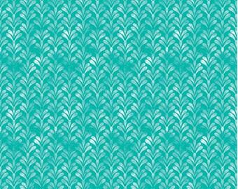 Berkshire Garden Flourish Aqua for Riley Blake - 1/2 Yard