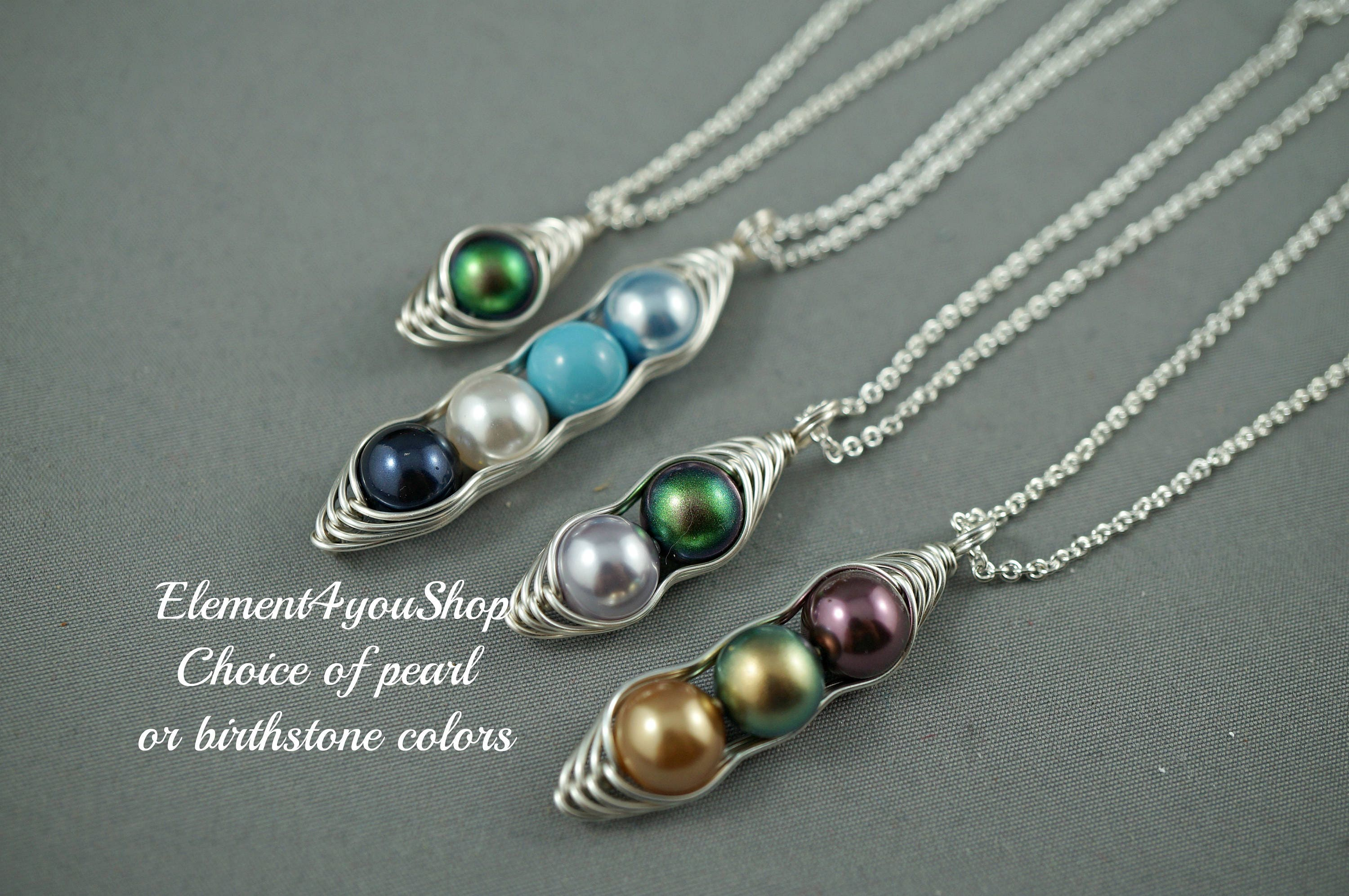 handmade silver dp com necklace amazon pearl gift day idea mothers sterling pea freshwater peapod one with