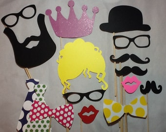Diva Photo booth Props - Wedding Photobooth Props - Photo Props - Birthday Photo Props