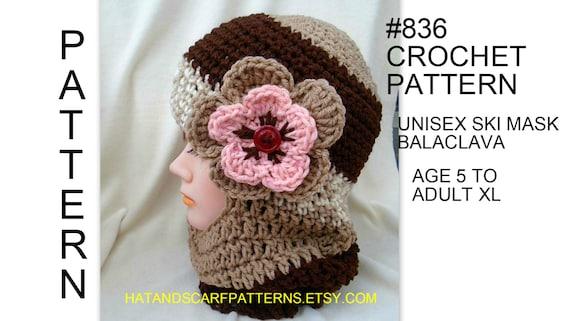 Unisex Ski Hat Balaclava Crochet Pattern Patterns For Men