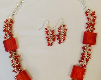 Orange You a Beautiful Necklace and Earrings?
