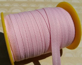 """Light Pink Twill Tape Trim - Sewing Bunting Shipping Packaging - 3/8"""" Wide - 10 Yards"""