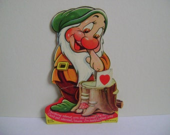 Vintage Disney Bashful Mechanical Valentine