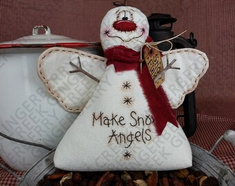 Make Snow Angels Pattern #123 - Primitive Doll Pattern