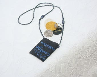 Thought pouch inspiration pendant