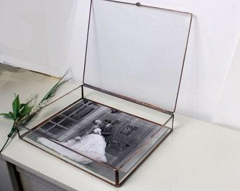 "11"" x 14"" Wedding Photo Box / Clear Glass 11"" x 14""  Proof Box / Photographer Package / Jewelry Box /Wedding Gift"