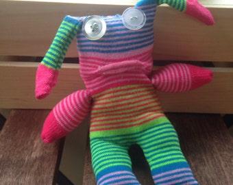 sock monster floppy ear stripe