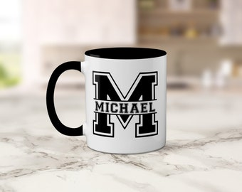 Personalized Gift - Personalized Mug, Name, Initial, Birthday Gift, Varsity, College Gift, Brother Gift, Friend Gift, Gift for Him, Sorority