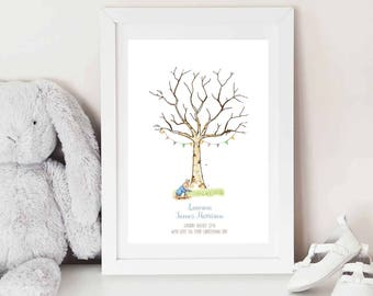 Peter Rabbit Fingerprint Keepsake - BABY SHOWER - Christening - BIRTHDAY - Fingerprint tree