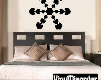 Snowflakes Vinyl Wall Decal Or Car Sticker - Mv029ET