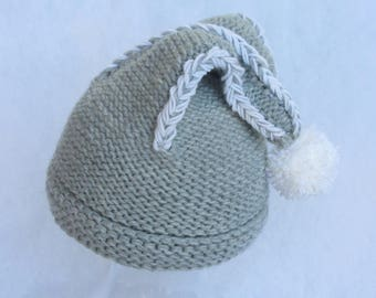 All natural merino baby winter hat. Size 6-18 months