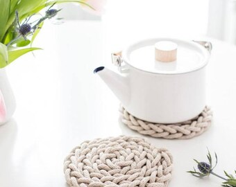 Finger Knit Trivet Pattern
