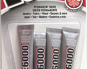 E6000 Industrial Strength Permanent Bond Adhesive Glue Mini 4/Pack