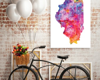 Illinois State Art Canvas