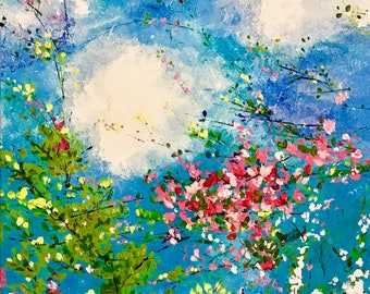 Spring Kisses the Sky 12x16