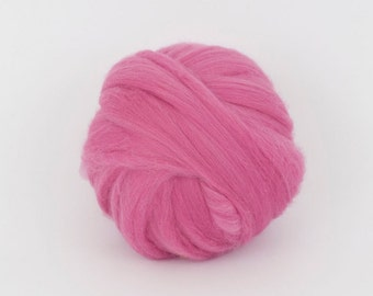 LightFuchsia  B218,   1.77oz (50gr), 19mic Extra Fine Merino Wool  Felting Wool, For Spinning And Needle Felting.  100% wool.