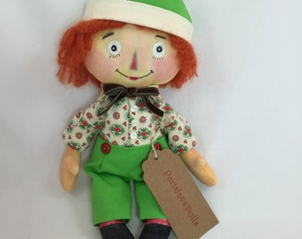 Raggedy Andy Doll - Raggedy Ann and Andy - Fabric Doll - Doll Collector Gift - Fabric Rag Doll - Classic Rag Doll - Doll Enthusiast Gift