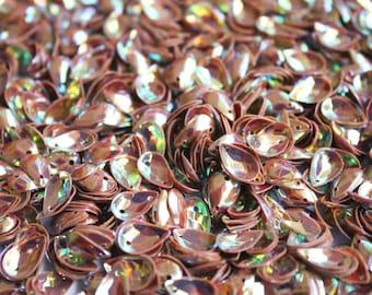 100 Rainbow Tear Drop shape sequins/KBOS373