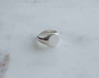 Classic Recycled Sterling Silver Signet