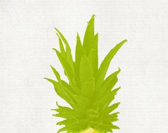 Pineapple pop art print  - 11 x 14 art print by Dawn Smith