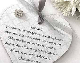 Personalised Friend/Friendship Heart Gift Keepsake