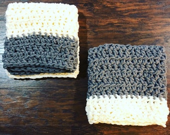 Baby Blanket • Grey and Off White • Free Shipping • Buy 1 or both •  Soft and Fluffy • Boy or Girl • Neutral • Twins • Nursery • Car Seat