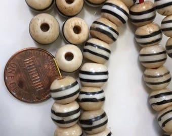 White Bone Mala Prayer Beads - 10 pcs. - YB201