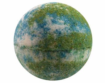 Rainforest Bath Bomb, Bath Fizzy, Handmade Spa Product, Epsom Salts, Hydrating Coconut Oil, Sensitive Skin, Great Gift for Her