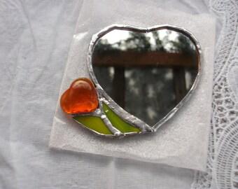 """Pocket mirror """"Valentine's day"""", mirror, pocket mirror """"Valentine"""""""