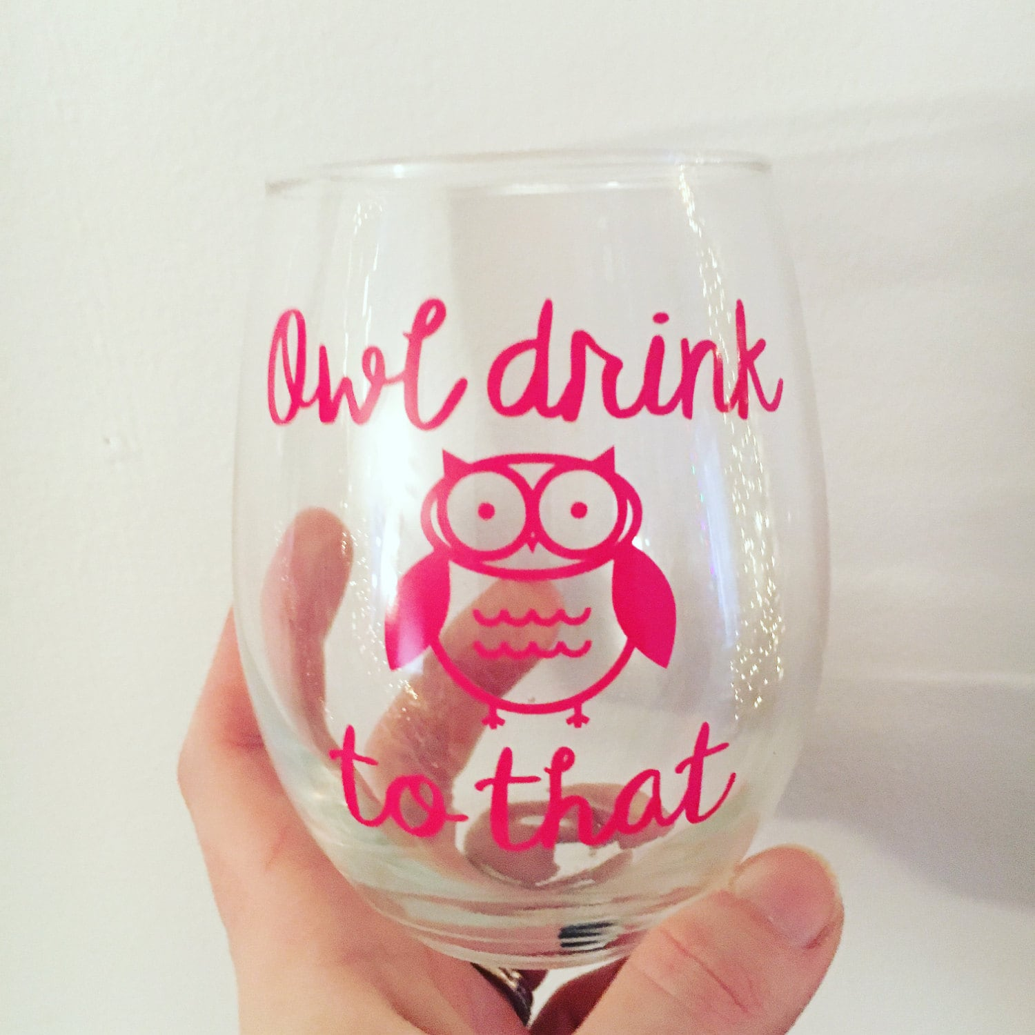 owl wine glass best friend gift funny wine glasses with