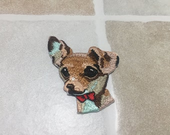 Embroidered Dog Patch Iron/Sew On