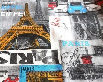 Fabric upholstery 50 x 70 cm vintage Paris style