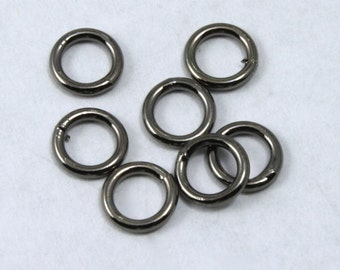 6mm Gunmetal Soldered Jump Ring #RJE022
