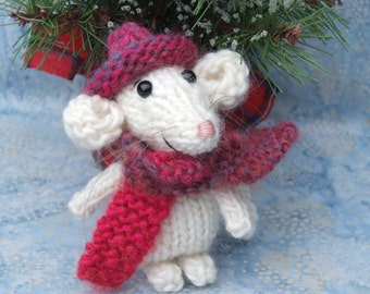 Christmas Knitted Mouse