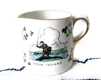 Vintage Irish Creamer - Carrigaline Shamrock Fine China - Cork, Ireland- St. Patrick's Day - Ireland